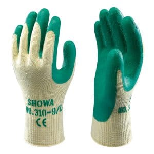 SHOWA 350R Thornmaster gloves, right and left hand, on a white background