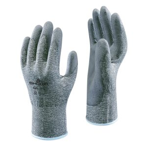 SHOWA 541 gloves, right and left hand, on a white background