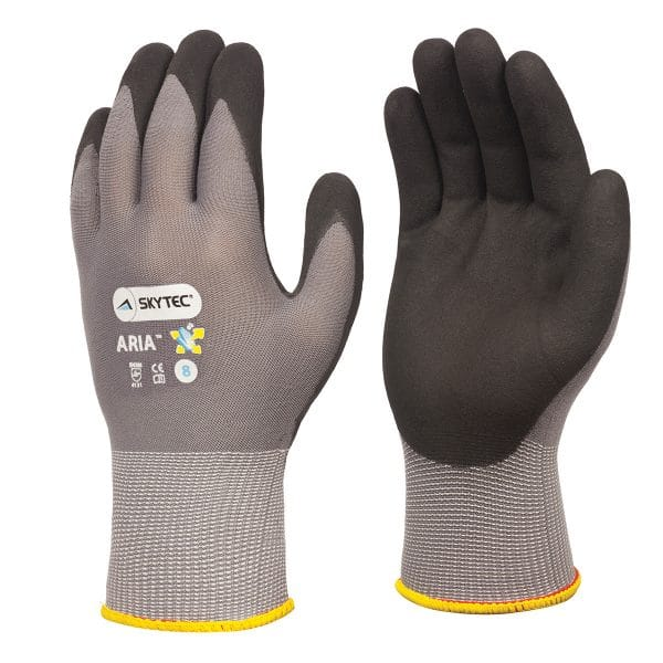 Skytec Aria gloves, right and left hand, on a white background